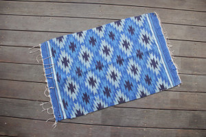 Blue Woven Rug